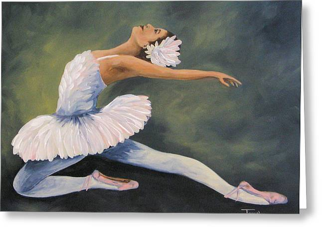 Ballet Dancers Greeting Cards - The Swan IV Greeting Card by Torrie Smiley
