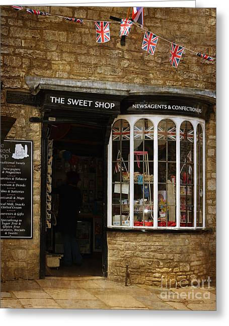 The Sweet Shop Greeting Card by Linsey Williams