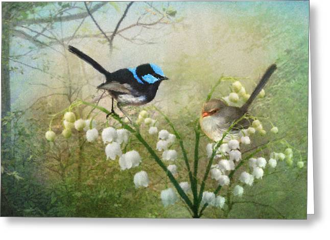 Wrens Greeting Cards - The Sweetest Thing Greeting Card by Trudi Simmonds