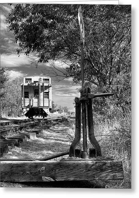 The Switch And The Caboose Greeting Card by James Eddy
