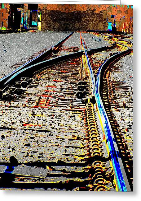 Train Yard Greeting Cards - The Switch Greeting Card by Tim Allen