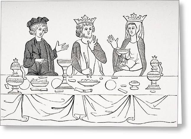 Apparel Greeting Cards - The Table Of A Baron As Laid Out In The Greeting Card by Ken Welsh