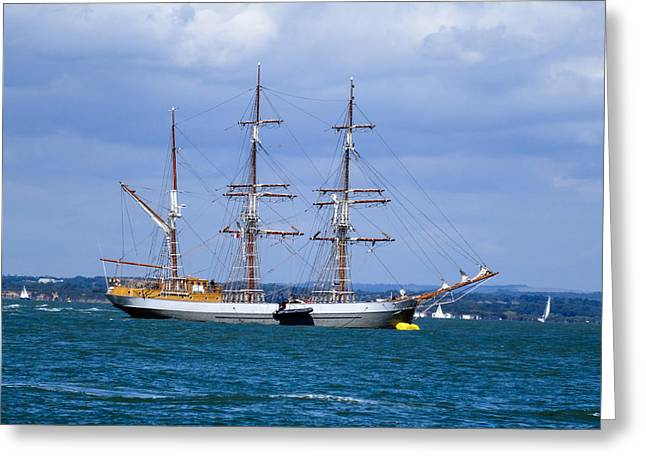 Tall Ships Greeting Cards - The Tall Ship Greeting Card by Martin Wall
