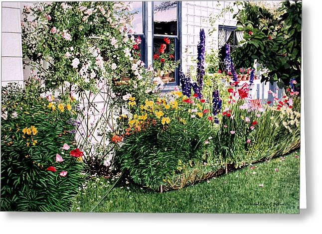 British Columbia Greeting Cards - The Tangled Garden Greeting Card by David Lloyd Glover