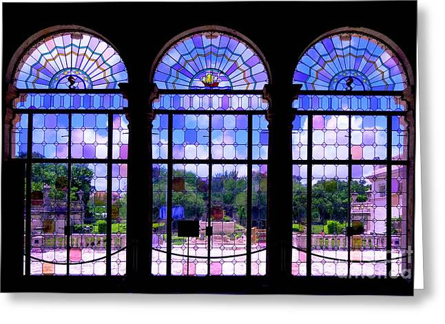 Tuscan Greeting Cards - The Tea Room Vizcaya Museum and Gardens Biscayne Bay Miami Florida Greeting Card by Amy Cicconi