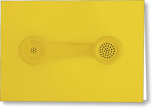 The Telephone Handset Greeting Card by Scott Norris