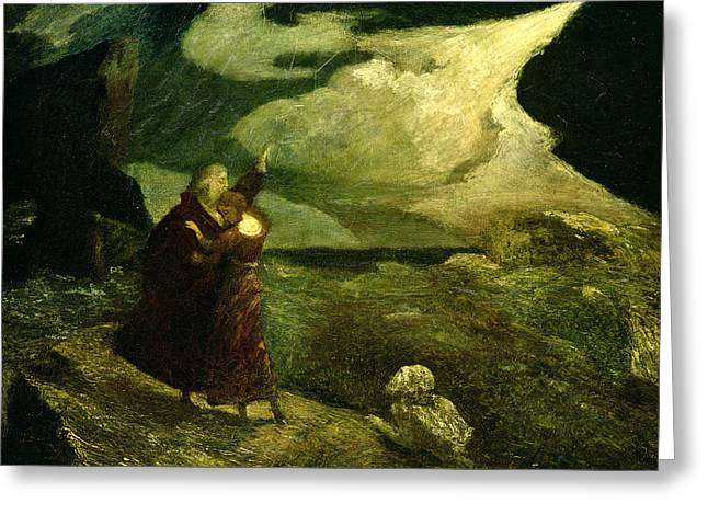 Spelled Greeting Cards - The Tempest Greeting Card by  Albert Pinkham Ryder