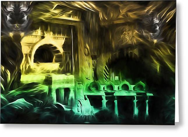 Caves Greeting Cards - The Temple  Greeting Card by Daniel  Arrhakis