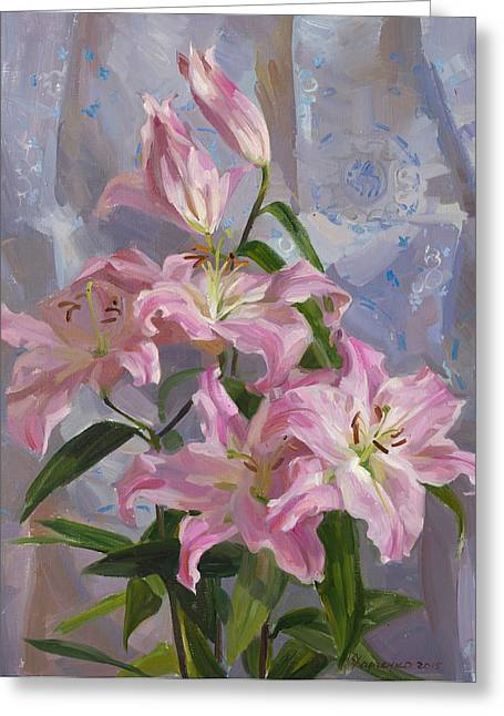 Flower Still Life Greeting Cards - The tenderness Greeting Card by Victoria Kharchenko