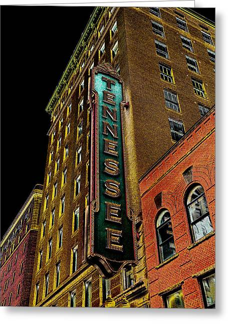 The Tennessee Theater In Knoxville Greeting Card by David Patterson