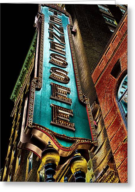 The Tennessee Theatre In Knoxville Greeting Card by David Patterson