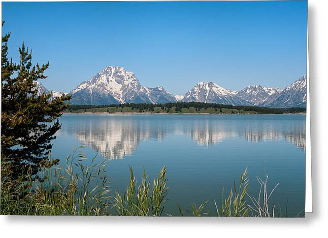 The Tetons On Jackson Lake - Grand Teton National Park Wyoming Greeting Card by Brian Harig