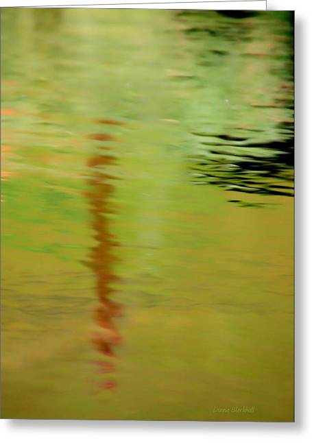 Water Flowing Greeting Cards - The Thin Red Line Greeting Card by Donna Blackhall
