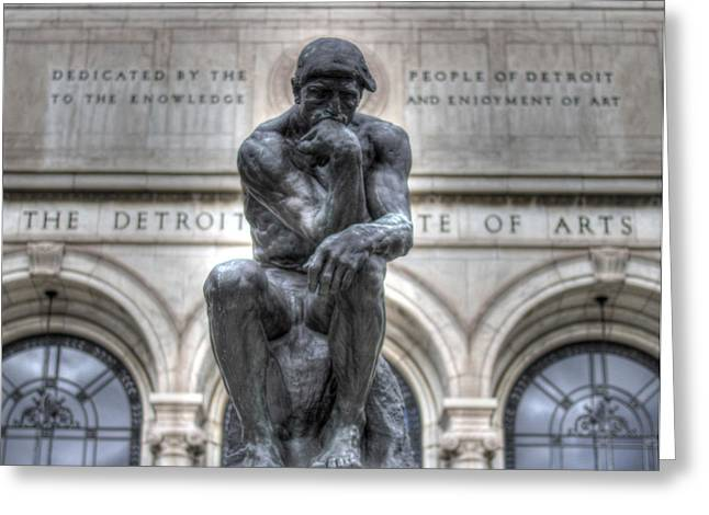 The Thinker Greeting Card by Chris Coleman