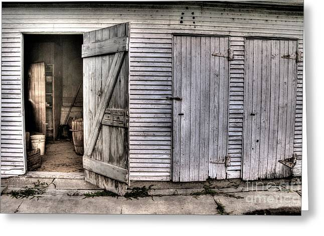 Barn Door Greeting Cards - The Third Door Greeting Card by William Fields