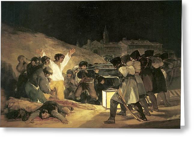 The Third Of May Greeting Card by Francisco de Goya