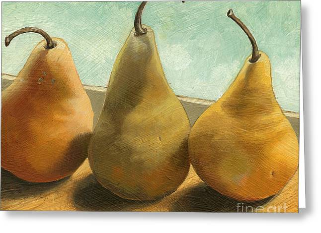 Fruit Greeting Cards - The Three Graces - painting Greeting Card by Linda Apple
