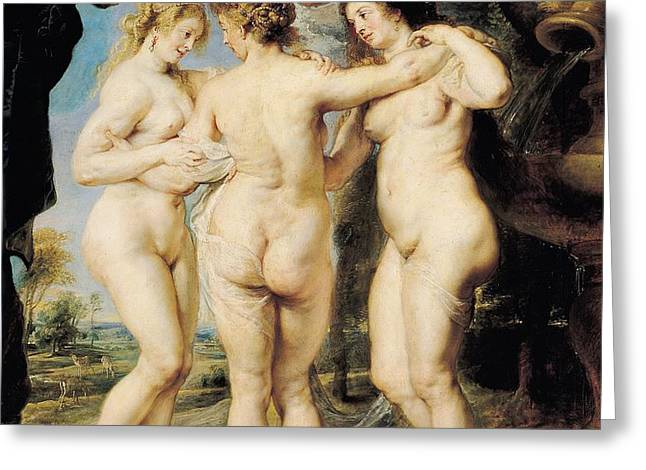The Three Graces Greeting Card by Peter Paul Rubens