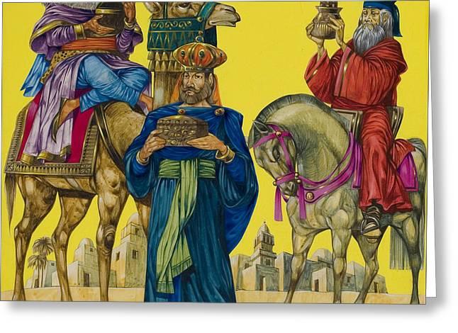 The Three Kings Greeting Card by Richard Hook