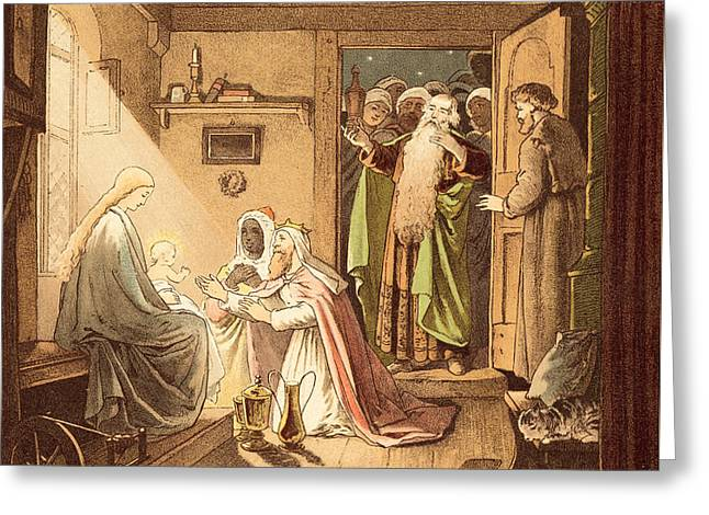 The Three Kings Greeting Card by Victor Paul Mohn