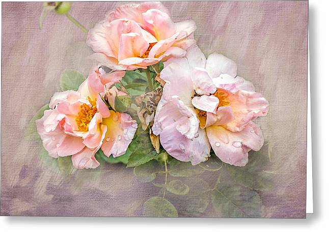 Three Roses Greeting Cards - The Three of Us Greeting Card by Betty LaRue