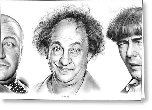 The Three Stooges Greeting Card by Greg Joens