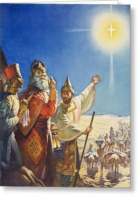 The Three Wise Men  Greeting Card by James Edwin McConnell