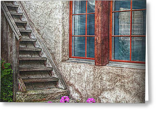 The Timbre Stair Greeting Card by Hanny Heim
