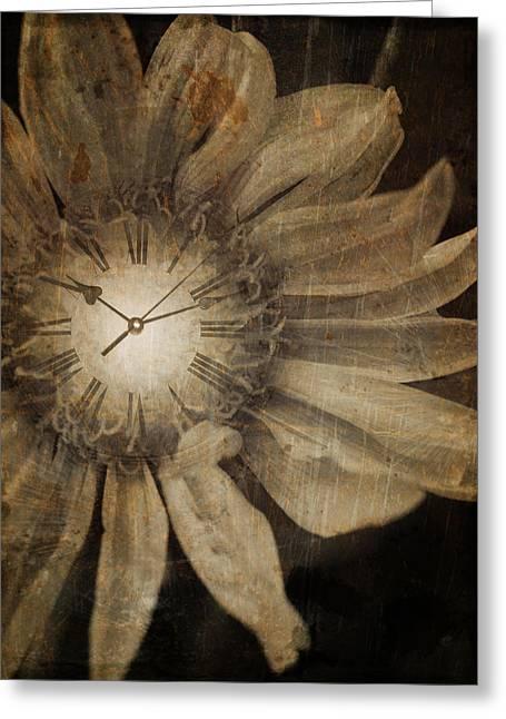 Clocks Digital Art Greeting Cards - The Time Keeper Greeting Card by Tara Turner