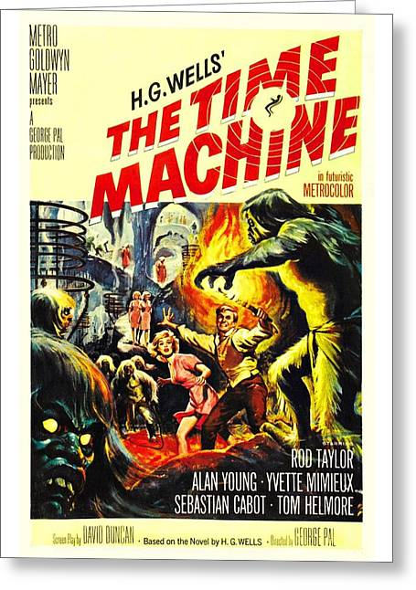 Motion Picture Poster Greeting Cards - The Time Machine B Greeting Card by Movie Poster Prints