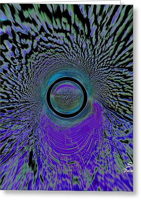 Sherri Painting Greeting Card featuring the digital art The Time Tunnel by Sherri  Of Palm Springs