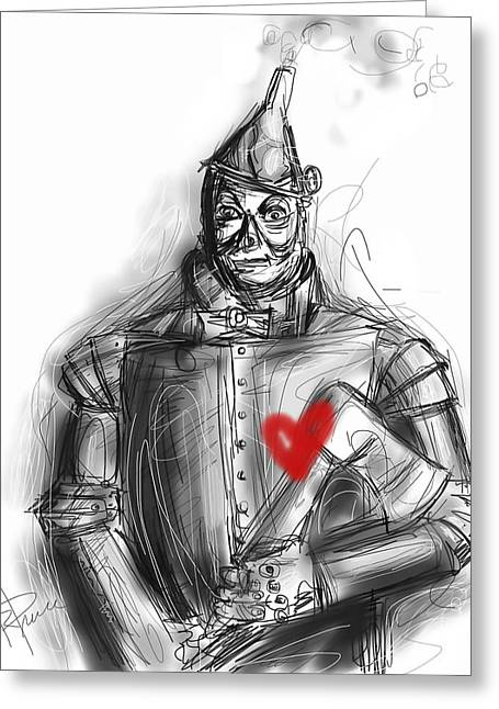 The Tin Man Greeting Card by Russell Pierce