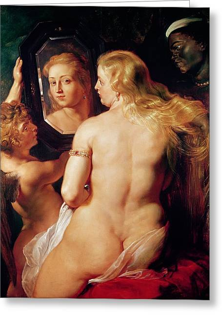 Mirror Reflection Greeting Cards - The Toilet of Venus Greeting Card by Peter Paul Rubens