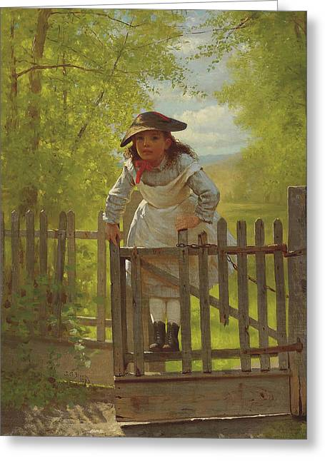 The Tomboy Greeting Card by John George Brown