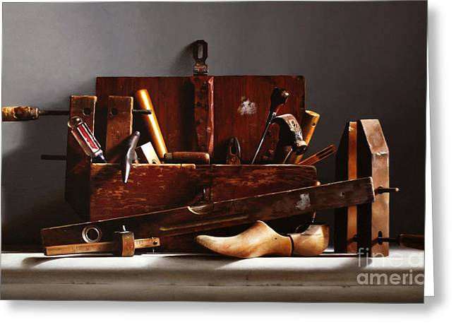 The Tool Box Greeting Card by Larry Preston