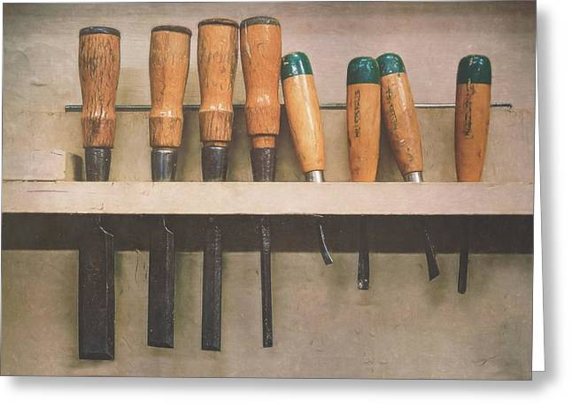 The Tools Of The Trade Greeting Card by Scott Norris