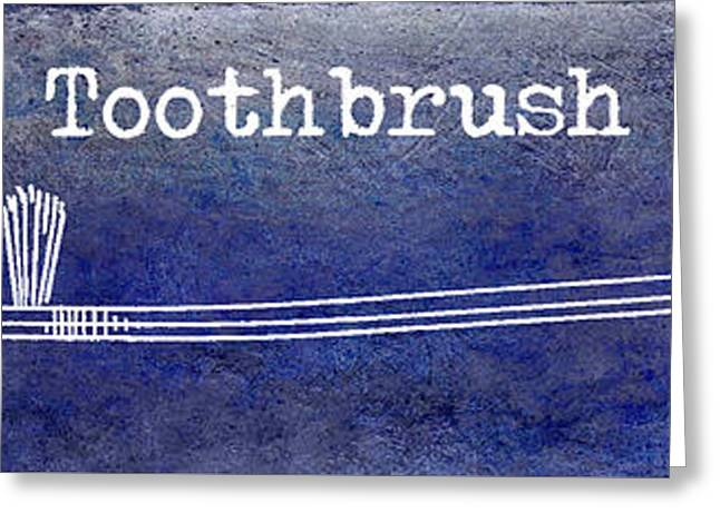 Dentistry Greeting Cards - The Toothbrush Blue Greeting Card by Jon Neidert