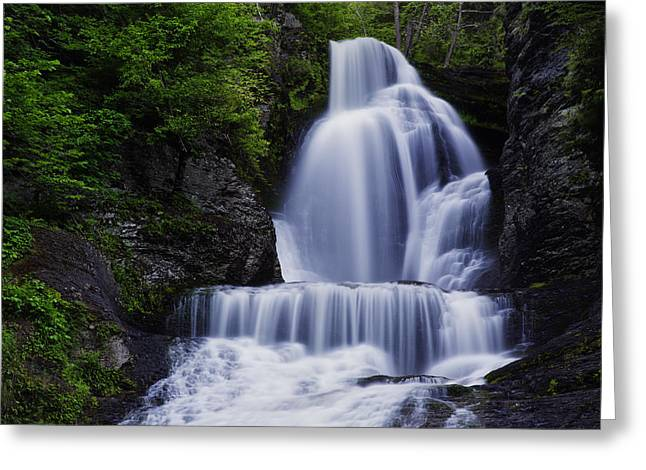 Waterfall Photographs Greeting Cards - The Top of Dingmans Falls Greeting Card by Rick Berk
