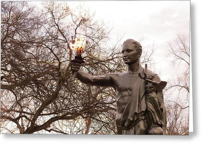 The Torchbearer - Ut Greeting Card by Thomas West