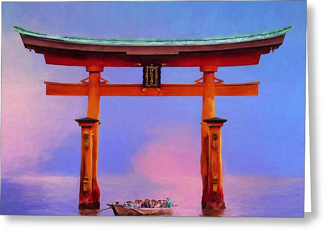 The Torii Gate Greeting Card by Dominic Piperata