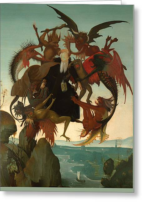 Torment Paintings Greeting Cards - The Torment Of Saint Anthony Greeting Card by Michelangelo