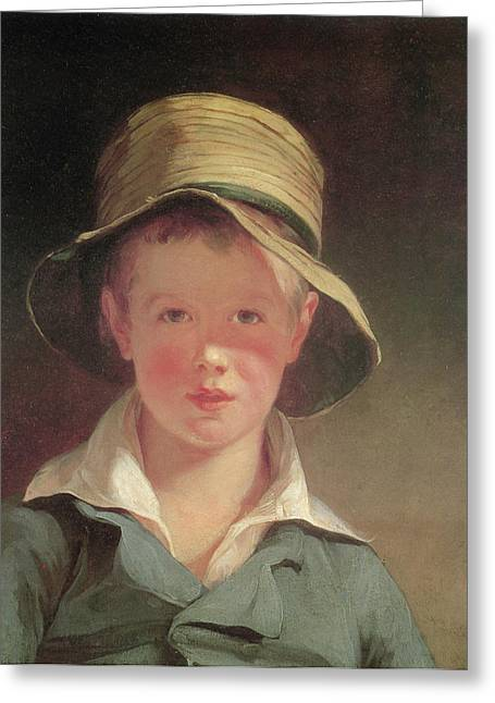 Portrait Of A Young Boy Greeting Cards - The Torn Hat Greeting Card by Thomas Sully