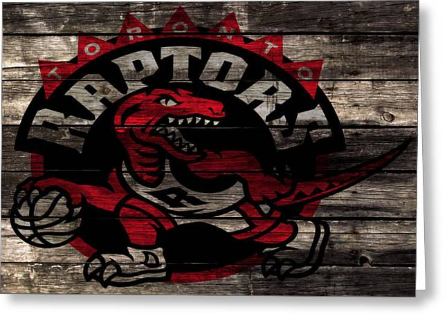 The Toronto Raptors 2a Greeting Card by Brian Reaves