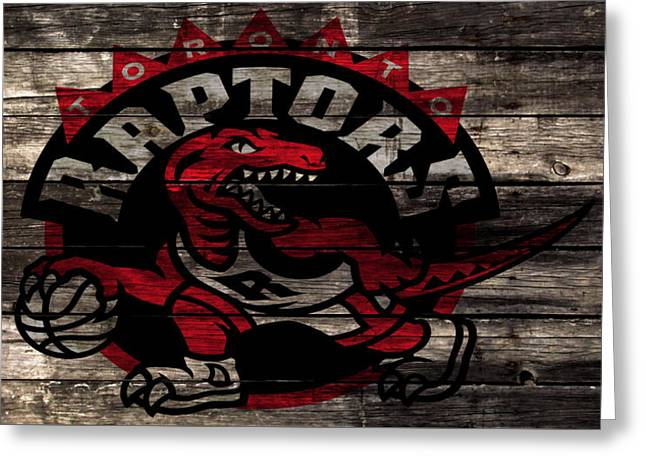 The Toronto Raptors 2b Greeting Card by Brian Reaves