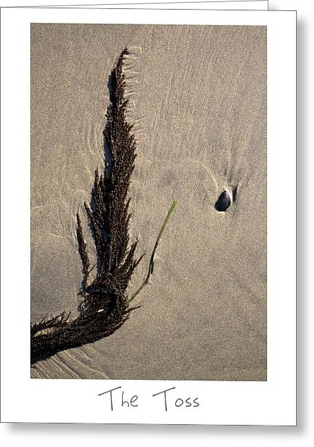 Sand Art Greeting Cards - The Toss Greeting Card by Peter Tellone