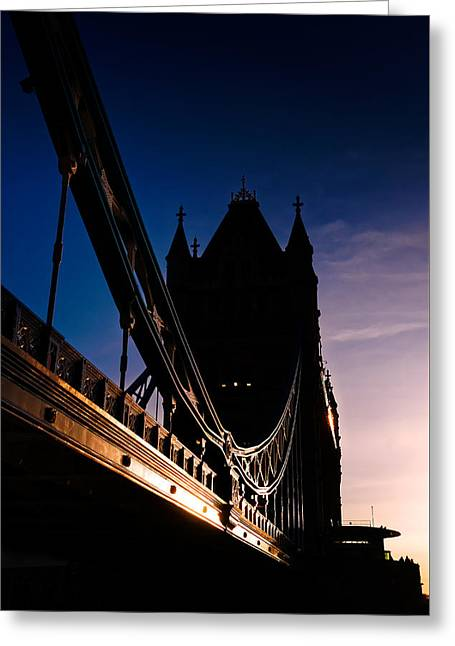 Famous Bridge Greeting Cards - The Tower Brace Greeting Card by Riccardo Mantero