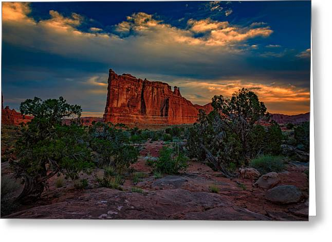 Monolith Greeting Cards - The Tower of Babel from Park Avenue Greeting Card by Rick Berk