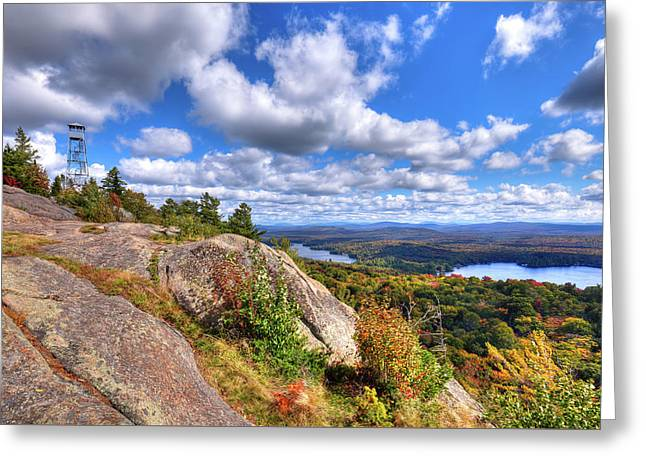 The Tower On Bald Mountain Greeting Card by David Patterson