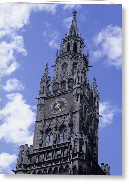 Elect Greeting Cards - The Tower On The Rathaus, City Greeting Card by Taylor S. Kennedy