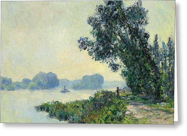 Blue And Green Greeting Cards - The Towpath at Granval Greeting Card by Claude Monet